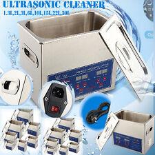 Digital Ultrasonic Cleaner Stainless Steel Heater Timer Industrial Grade 1.3-30L