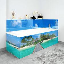 Bath Panels Printed on Acrylic - Caribbean Jetty With Beach Hut