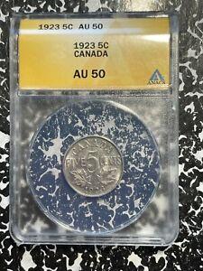 1923 Canada 5 Cents ANACS AU50 Lot#A224