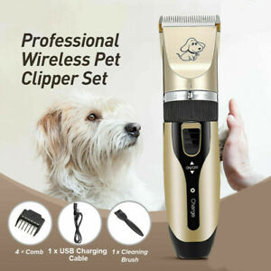 Electrical Animal Pet Dog Cat Hair Grooming Trimmer Shaver Clipper Quiet Razor