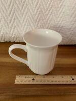 "4.5"" Bone China Mug - ANTIQUE WHITE by Mikasa - Embossed Scallops"