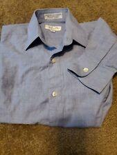 Vtg Christian Dior Chemise Light Blue Dress Shirt Button Up Boys Size 10 EC FS
