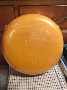 """Faux Fake Food Replica cheddar Cheese Wheel Home Display Stage Movie Prop 12"""""""