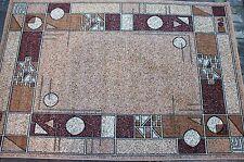 Moderner Teppich 300 x 400 cm Hell Braun, Beige.