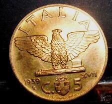 5 centesimi 1939 bronzital FDC sig./per.ziato