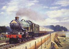 Railway Engine Locomotive Steam Train GWR Clun Castle Railways Birthday Card