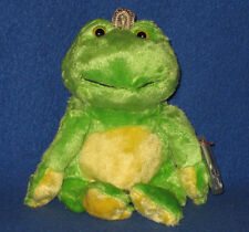 TY CHARM the GREEN FROG BEANIE BABY - MINT with MINT TAGS