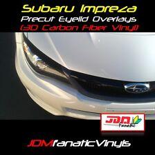 08-14 WRX STI Eye Lids 3D Carbon Fiber Vinyl Overlays Decal Wrap JDM Head Light