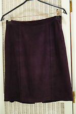 Purple Suede Mini Skirt Size EU38 Medium M Sueded Leather Skirt Made in Germany