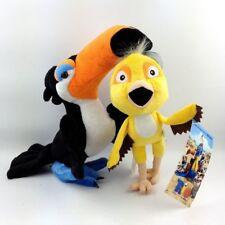 2pcs Rio The Movie Nico & Toucan Rafael  Plush Doll Stuffed Animal Soft Toy Gift