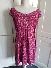 FAB WHITE STUFF pink LONG Jersey Dress 16 Floral