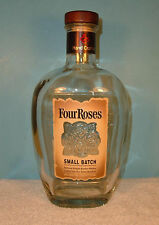 Four Roses Small Batch Bourbon Whiskey Empty Bottle Wood & Cork Cap 750 ml .