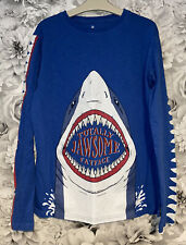 Boys Age 12-13 Years - Fat Face Long Sleeved Top - Glow In The Dark - Ex Cond
