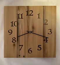 Rustic Clock Hand Made From Recycled Pallet Wood Approx 12�x12�x1/2� Hand Made!