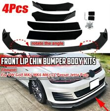 4PCS Carbon Look Front Bumper Lip For VW Golf MK7 MK7.5 MK6 GTI GTD R