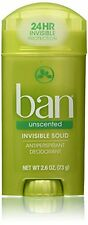 Ban Anti-Perspirant Deodorant Invisible Solid Unscented 2.60oz Each