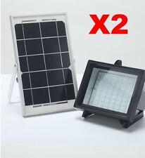 Bizlander 2 Pack 5W Solar Powered 60LED Outdoor Light  security 12 Mnth Warranty