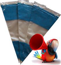 50 blaue Dreiecks-Spitztüten,dick. Cellophan-Tüten,Spitzbeutel,Bonbontüten,NEU