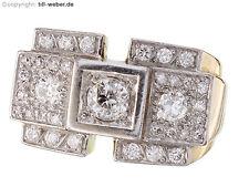 "Ring Retro ""Altschliffdiamant Brillanten 750/18 Karat Gold"" ca. 1940"