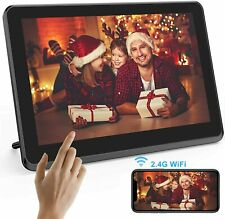 """Touch Digital Picture Frame WiFi 8"""" FULL HD IPS Touch Screen 8GB with Phone App"""