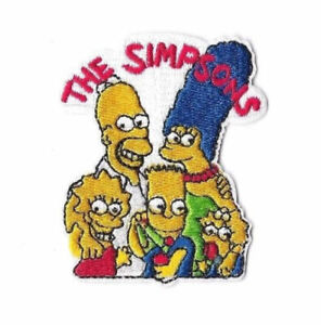 THE SIMPSONS Iron on / Sew on Patch Embroidered Badge Cartoon Bart TV PT178