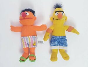 Genuine Sesame Street Swimming Bert & Ernie Plush Toy Doll 28cm Plushie