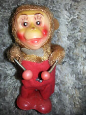Vintage DRUMMER MONKEY Antique WIND UP TOY Rare COLLECTIBLE Made In China WORKS