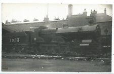 LONDON, MIDLAND SCOTTISH RAILWAY - LMS STEAM LOCO no.1083  Real Photo Postcard