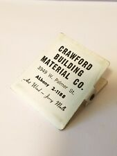 CRAWFORD BUILDING MATERIAL Art Wind Jerry Malk ALBANYAdvertising Metal BILL CLIP