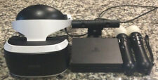 Playstation 4 PS VR Virtual Reality Complete Headset Move Controllers Bundle