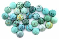 ONE 8mm Round Natural Sonoran Mexico Turquoise Cabochon Gem Stone Gemstone 3334B