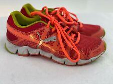 Puma Girls Orange Green Sneakers Size 4