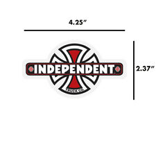 Independent Truck Company Vintage Iron Cross Skateboard Sticker Decal 4.25""