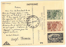 French Congo Postcard - 1950 Brazzaville to Honfleur (FR) - Medical text - XF