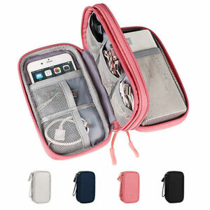 Travel Storage Bag Case USB Data Cable Organizer Earphones Wire Pouch Portable