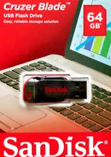 SanDisk 64GB Cruzer Blade USB 2.0, Black, Flash Drive USB Memory Stick NEW