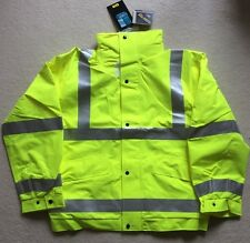 GORE-TEX Hi-Vis Bomber Jacket Yellow Waterproof Coat 3M Tape Small
