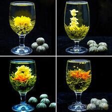 Deluxe Different Handmade Blooming Flower Green Tea Wedding Home Gift 4 Balls