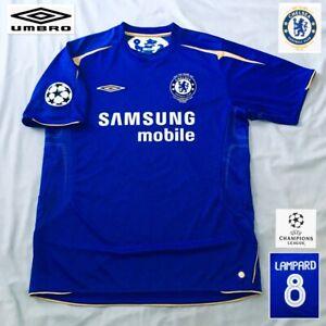 Original Chelsea Football Shirt LAMPARD 2005 MINT Champions League UMBRO
