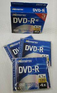 1- 4.7GB 4X DVD-R Media (3-Pack) - SEALED DVD-R