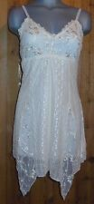 NWT PRETTY ANGEL cami intimate sexy TANK TOP TUNIC SHIRT dress XLG LACE IVORY