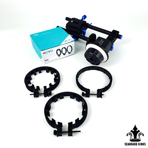 Neewer A-B Stop Follow Focus with Quick Release and Gear Ring Belt Mount w/Rails