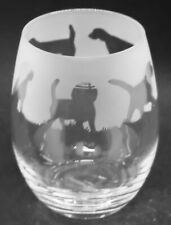 More details for beagle frieze boxed 36cl crystal stemless wine / water glass