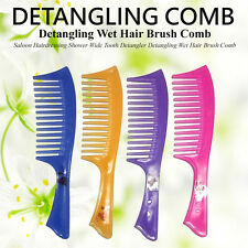 DETANGLING COMB PROFESSIONAL HAIRDRESSING SHOWER WIDE TOOTH WET HAIR BRUSH COMB