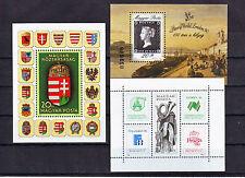 HUNGARY - Good lot of nice mint never hinged souvenir  sheets - MNH (#3843)
