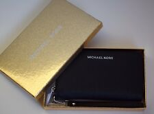 Michael Kors Portemonnaie GIFTABLES LG Flat Case Leather Black Silber