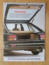 HONDA QUINTET orig 1980 UK Mkt Sales Brochure - Quint