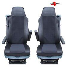 2X BLACK FABRIC TAILORED SEAT COVERS FOR DAF TRUCKS XF95 XF105 XF 105 95 LF CF