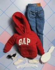 NEW~MATCHIN Styles BARBIE CLOTHES/SHOES~GAP RED SWEATSHIRT Jeans Tennis Shoes