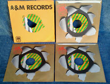 HERB ALPERT & TJB - A&M FORGET ME NOTS  - (4) 45'S  - ONE LOT - 2 SIDED HITS